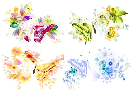 Art butterflies beautiful for your design Vector