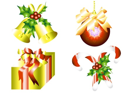 Xmas elements set for your design Stock Vector - 14000565