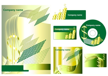 Elements of corporate branding style for your design Stock Vector - 14000545