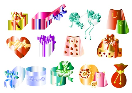 Big collection of gifts for your design   Events    Stock Vector - 14000559