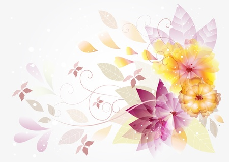 Vector floral background beautiful for your design  Floral vectors  Vector