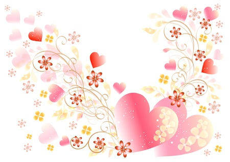 pink swirl: Pretty valentine card and frame  Events