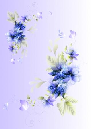 Clean vector floral background for design   Floral vectors Vector