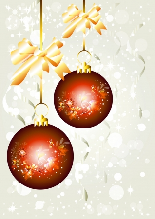 Background with baubles for your design  Christmas vectors Stock Vector - 14167243