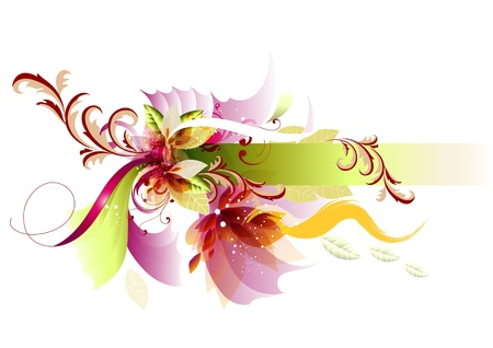 abstract flower: Background with frame beautiful for your design. Banner for design.