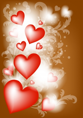 Vector illustration with  hearts for your design  Valentines  vector