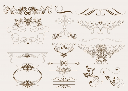 Decorative elements for elegant deign  Calligraphic vector Stock Vector - 14259001