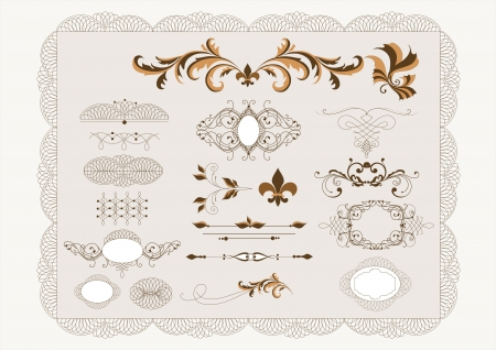 Decorative elements for elegant deign  Calligraphic vector Stock Vector - 14259006