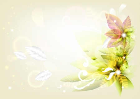 lightly: Spring air background for design  Floral vector