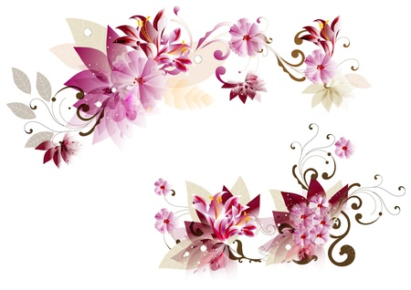 Beautiful flourish design  Floral vector Vector