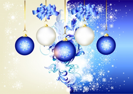 Blue Christmas background  for your design Stock Vector - 14372363