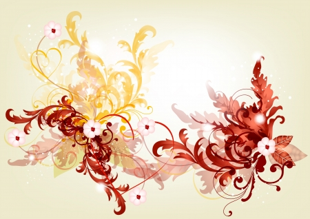 Filigree background for you design  Floral vector Vector