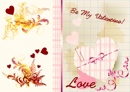 Valentine card for your design  Valentine vector Stock Vector - 14372361