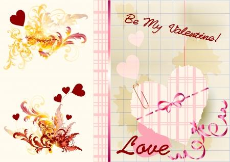 first day: Valentine card for your design  Valentine vector Illustration
