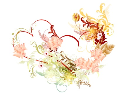 ornate vector hearts beautiful for greeting cards  Valentine vector Stock Vector - 14463372