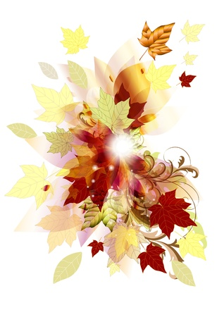 Autumn background for your design  Autumn Stock Vector - 14576981