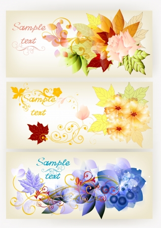 Beautiful banners for your design   Vector