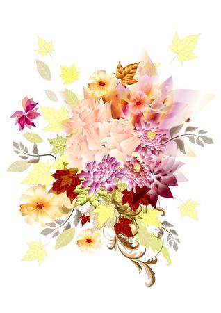 bridal bouquet: Autumn bouquet element for your design  Autumn