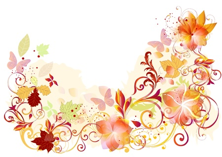 Flourish design ideal for greeting cards and backgrounds   Vector