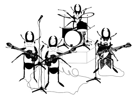 bass guitar: hand drawn  musicians.