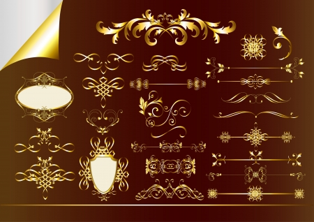 Calligraphic ornate decorative elements  Calligraphic vector Vector