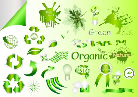 ecological symbols and labels for your design Stock Vector - 14809377