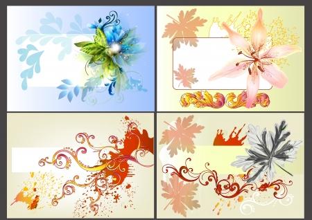 lily flowers set: set of floral design elements