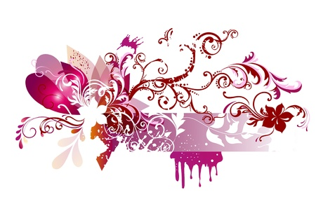 floral design with place for your text. Floral vector Stock Vector - 14890067