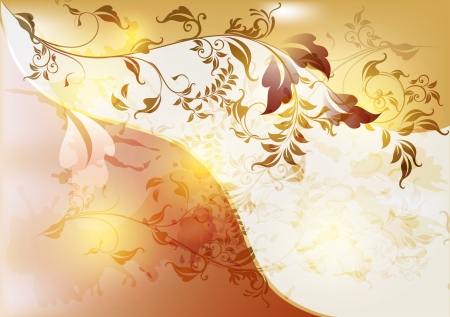 Elegant antique background in floral vintage  style  Vintage design Vector