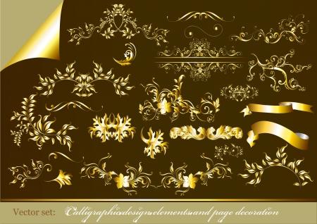 Calligraphic ornate decorative elements  Calligraphic Stock Vector - 15067206
