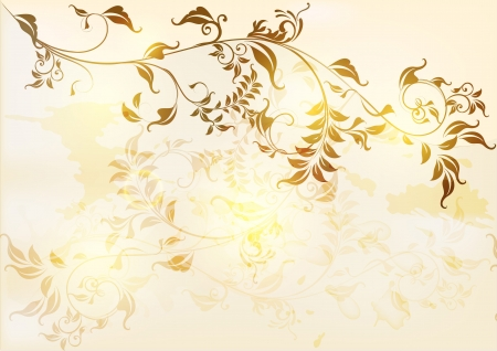 beige: Elegant antique background in floral vintage  style  Vintage design Illustration
