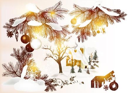 peaceful scene: Christmas