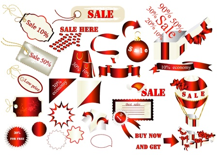 set of labels for sale design Stock Vector - 15316023