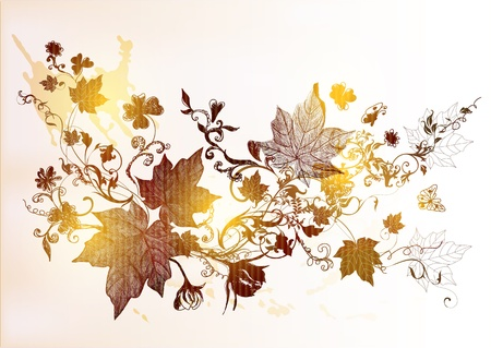 hand drawn floral  vintage design Stock Vector - 15316024