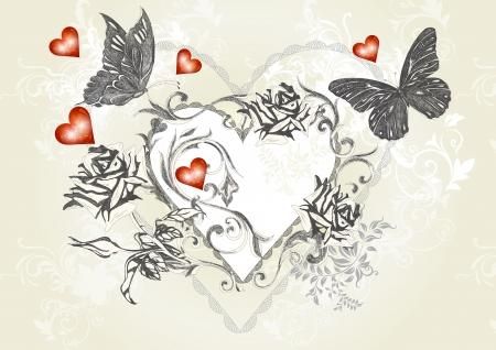 swirly: Valentine Illustration