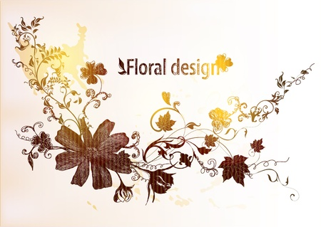 hand drawn floral  vintage design Stock Vector - 15316032