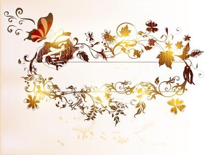 hand drawn floral  vintage design Stock Vector - 15316046