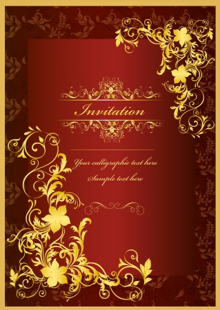 Luxury invitation design Vector