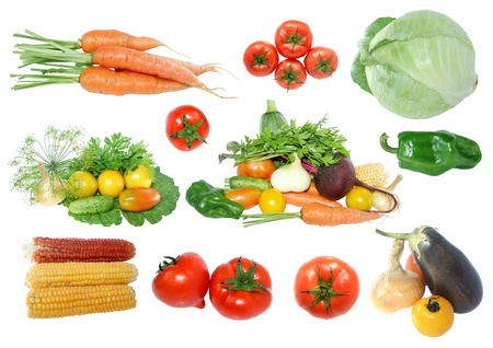 fresh vegetables on a white background Stock Photo - 15316018