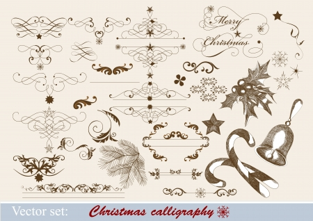Decorative elements for elegant Christmas design  Stock Vector - 15426174