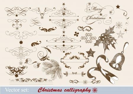 Decorative elements for elegant Christmas design Stock Vector - 15426174