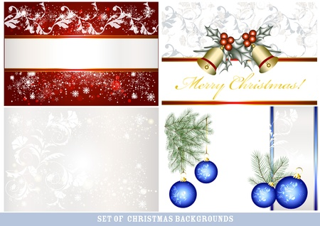 place card: Christmas vector background