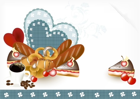bakery shop: menu vector  design