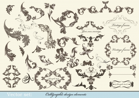 Decorative elements for elegant design  Calligraphic vector Stock Vector - 15552336