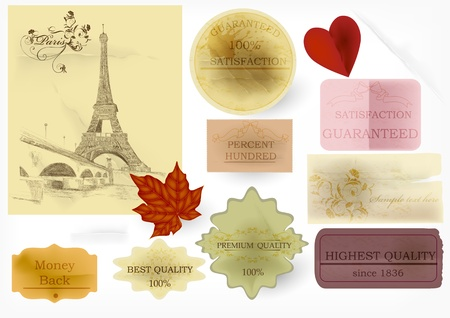 Decorative elements for labels design  Calligraphic vector Stock Vector - 15552350