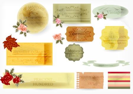 Vector vintage labels  Stock Vector - 15552366