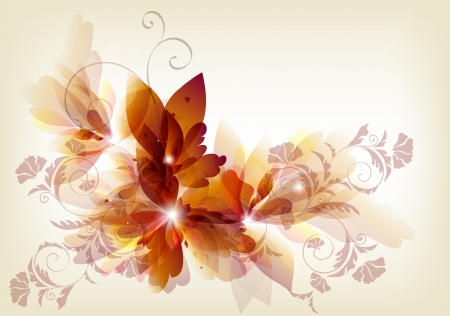 floral backgrounds: Floral vector