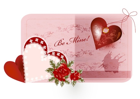Valentine greeting card for your design Stock Vector - 15552362