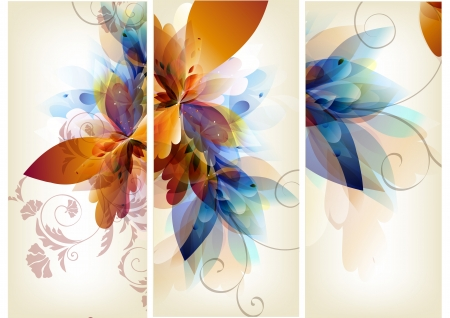 floral ornaments: Floral vector