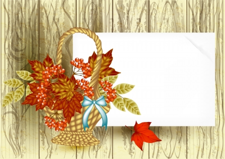 place card: Autumn vector Illustration